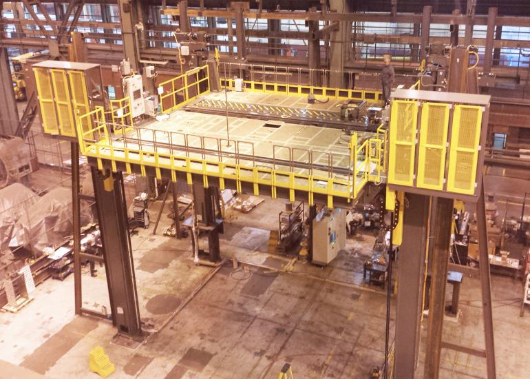 Massive Platform for Nuclear Retubing