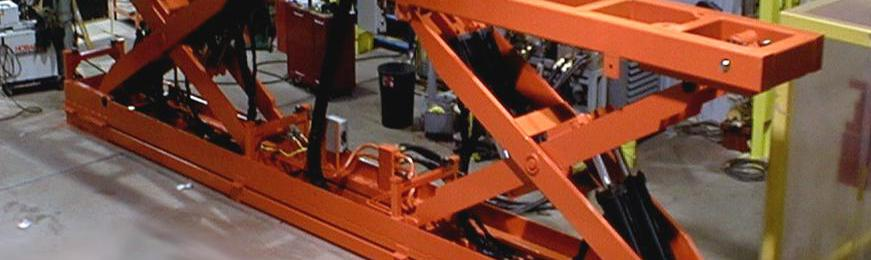 35,000 Lb. Hydraulic Scissor Lift for Automotive Assembly