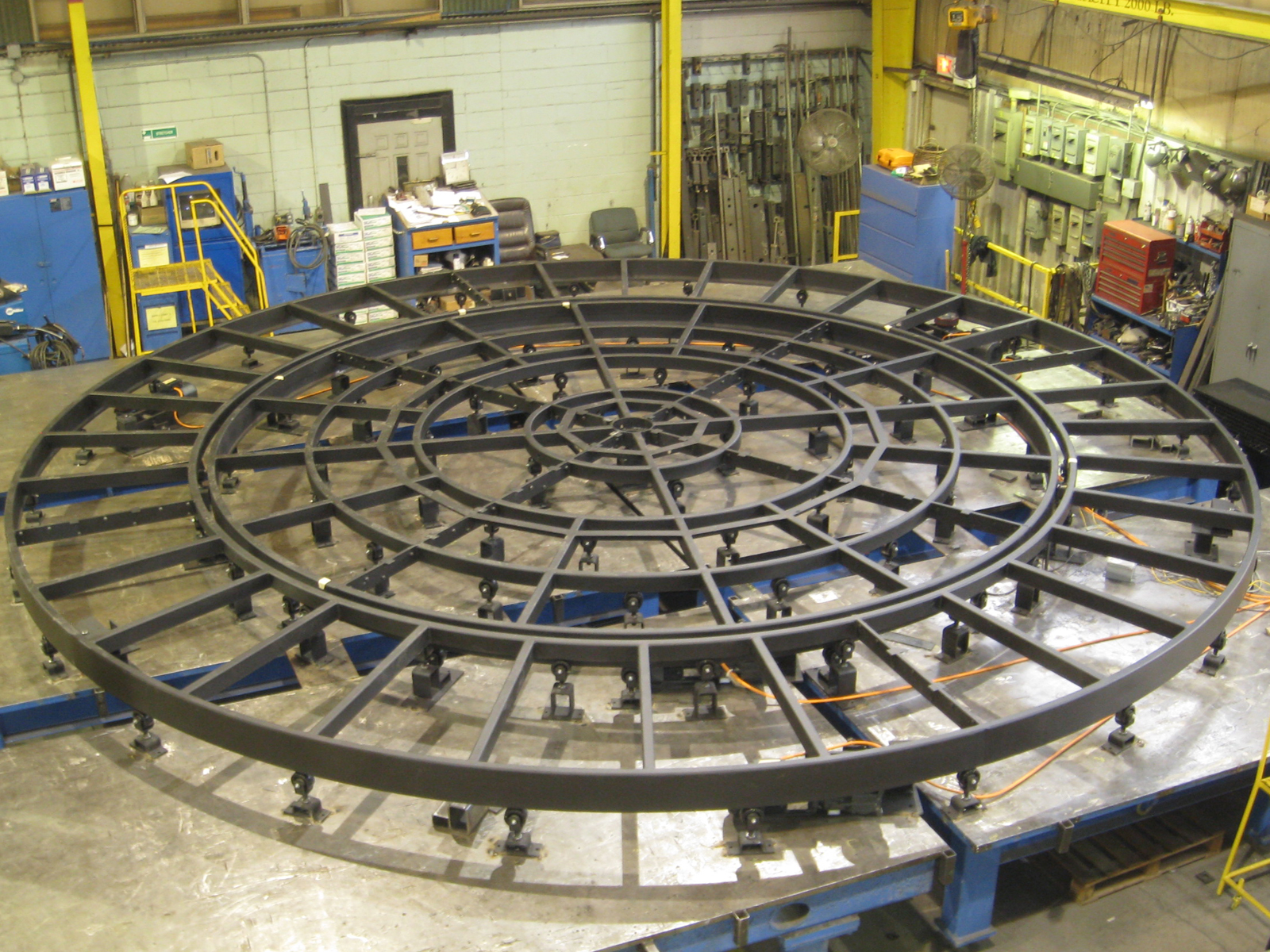 Circular Theater Stage with Rotating Rings