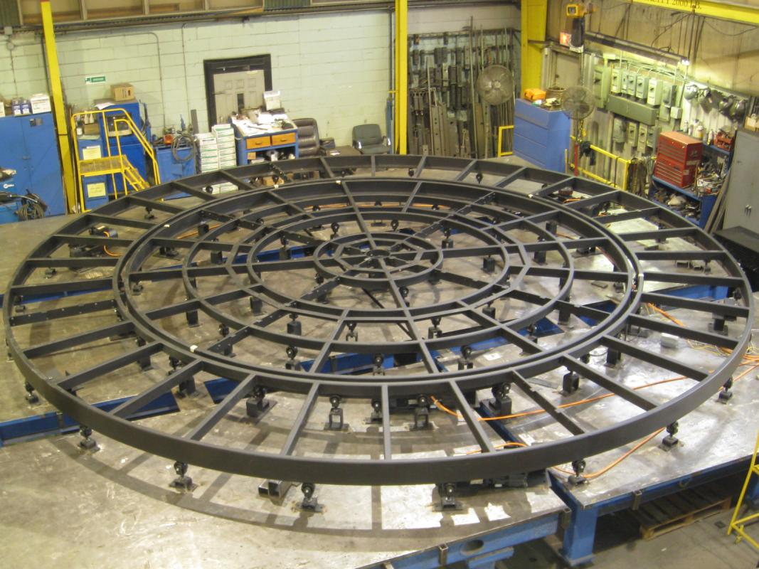Circular Theater Stage With Rotating Rings Handling