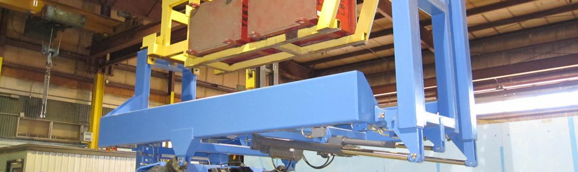 Custom Scissor Lift with Tilter for Jet Wing Assembly