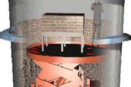 Rendering of ladle lift in pit