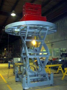 Ladle lift being tested with weights
