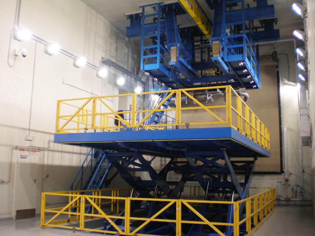 Jet Engine Test Cell Lift 187 Handling Specialty