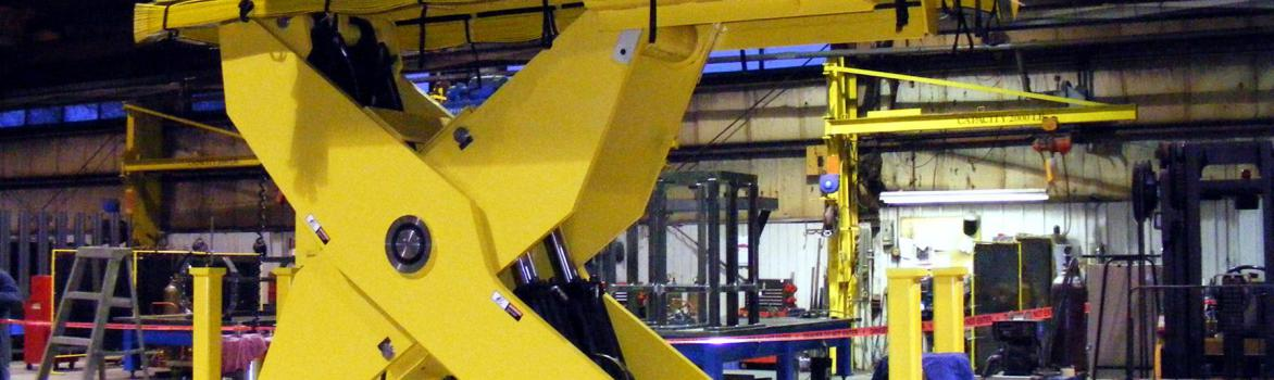 Paint Booth Lift for 85,000 Lb Gas Compressor